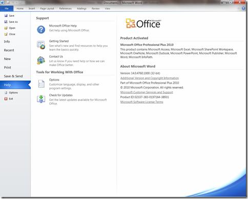 Serial Office 2010