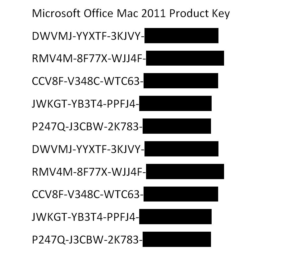 free serial number office 2011 mac
