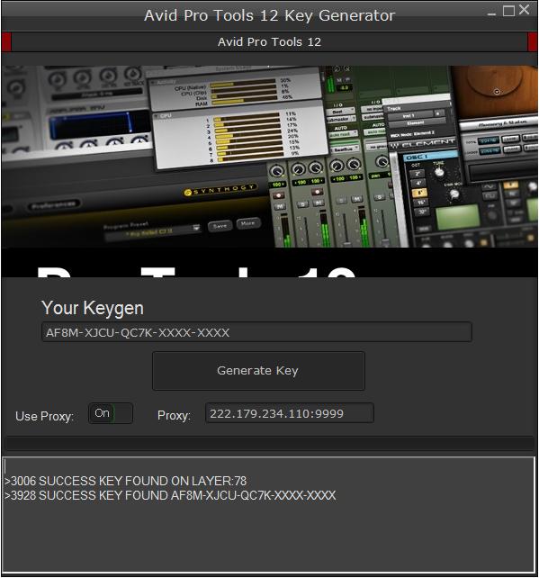 Avid Pro Tools 12 Keygen