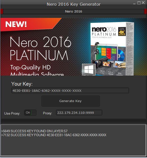 Nero 2016 key