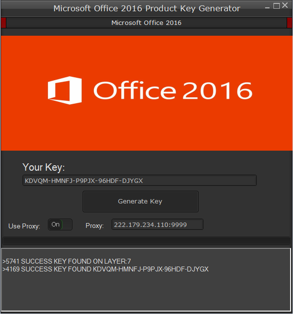 key microsoft office 2016