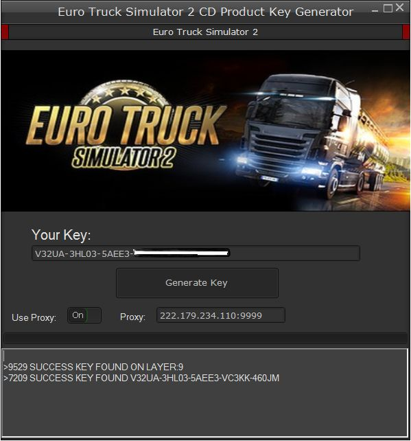 Euro Truck Simulator 2 Product key Activation Key List