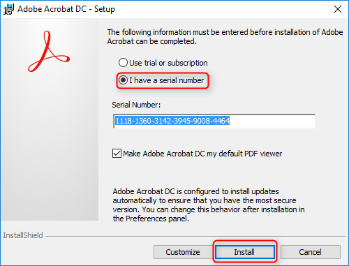 adobe acrobat serial key