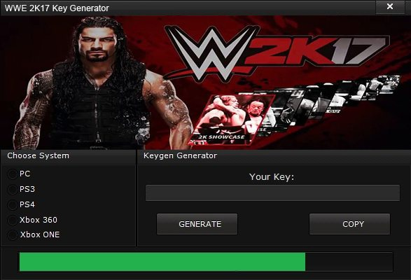 licence key for wwe 2k17 for pc